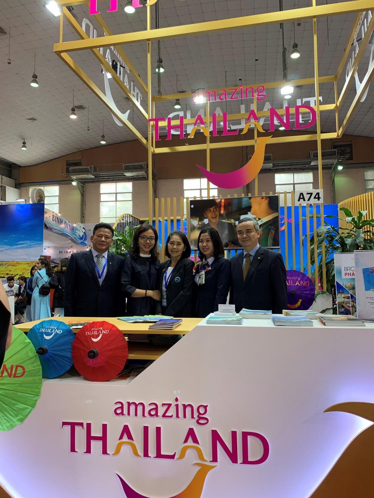 Gian hàng của Tổng cục Du lịch Thái Lan tại VITM 2019.Nguồn: TAT