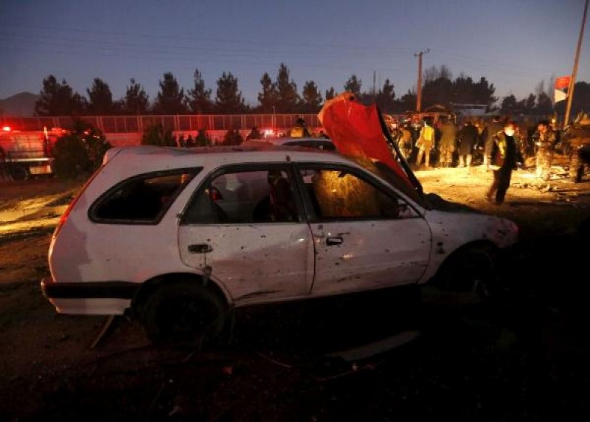 Hiện trường vụ đánh bom liều chết xảy ra gần Đại sứ quán Nga ở thủ đô Kabul năm 2016. (Nguồn: Reuters)