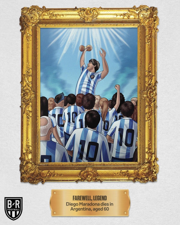 """Tháng 11: """"Cậu bé vàng"""" Diego Maradona qua đời ở tuổi 60."""