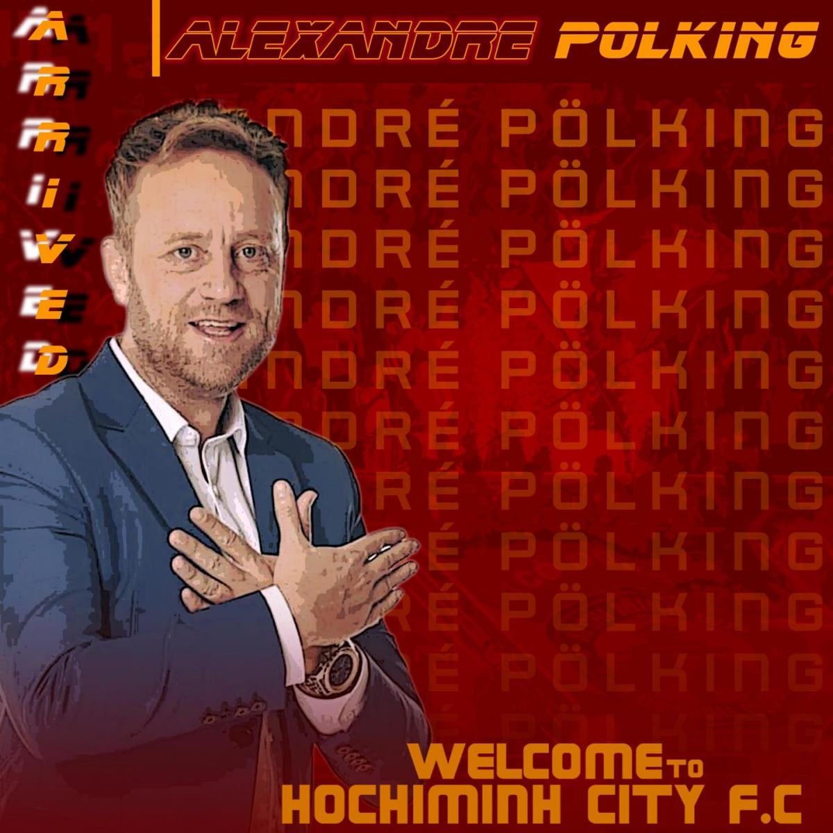 CLB TPHCM ký hợp đồng với HLV Alexandre Polking.