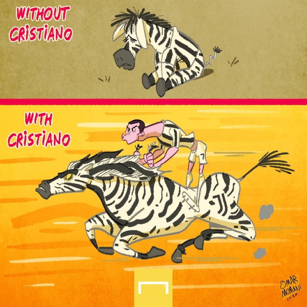 Juventus khi có Ronaldo và khi vắng Ronaldo. (Ảnh: Omar Momani)