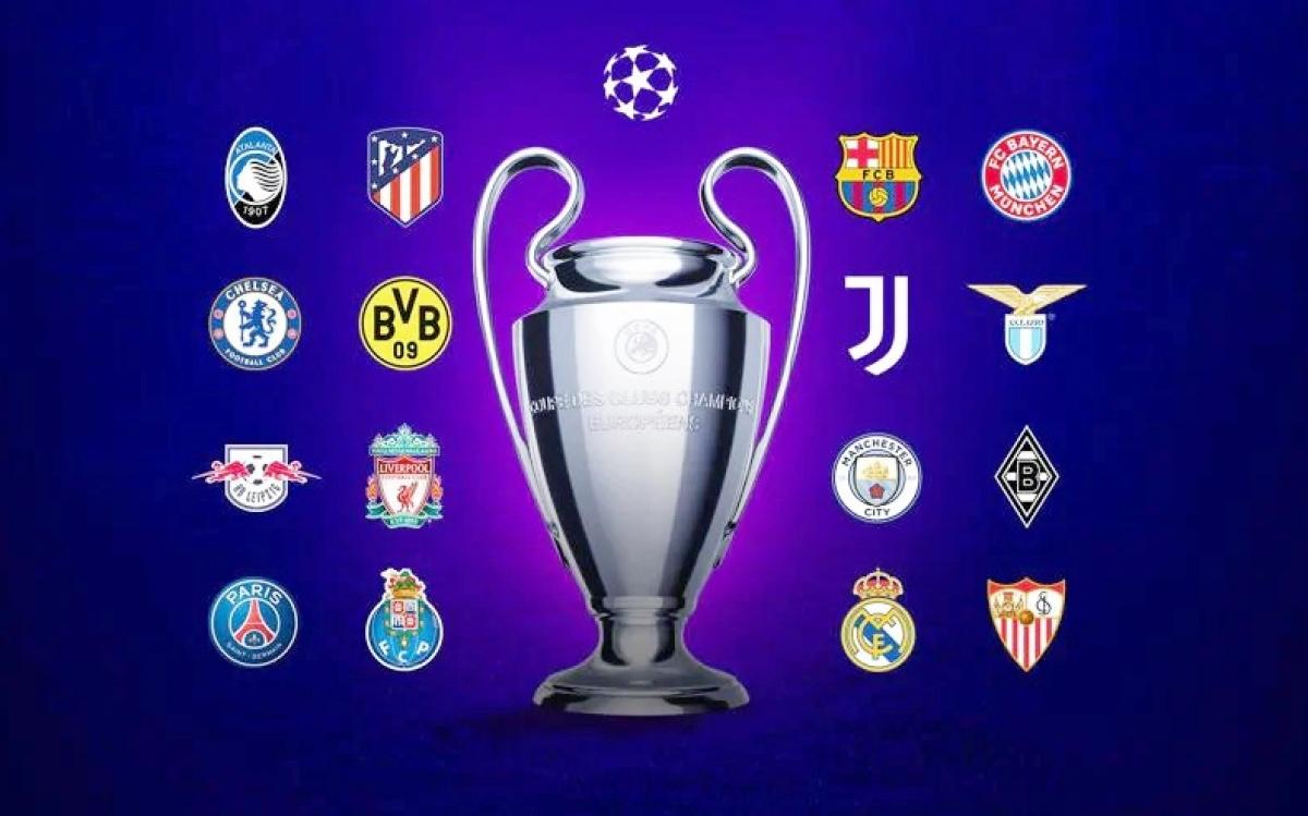 Danh sách 16 đội bóng lọt vào vòng 1/8 Champions League 2020/2021./.