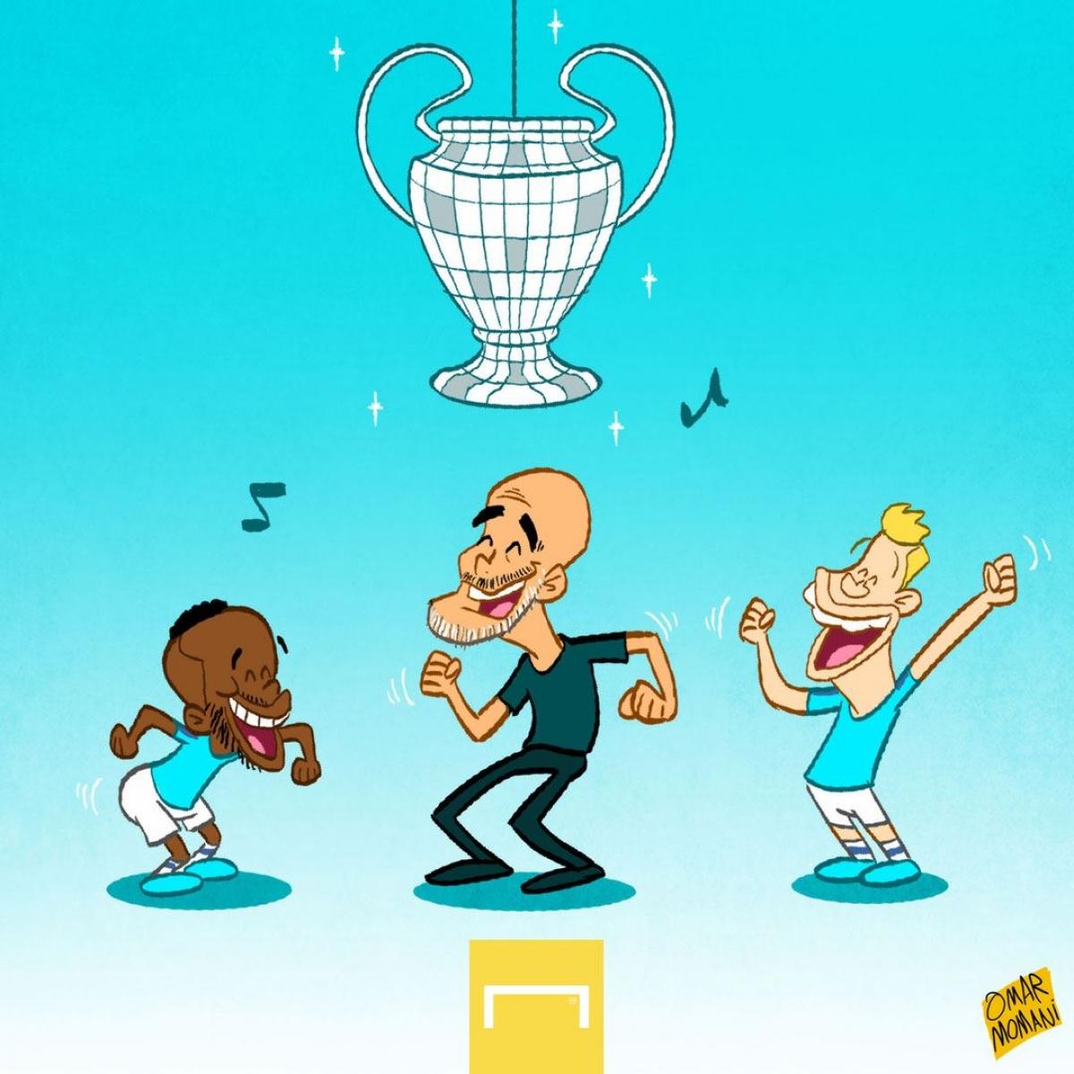HLV Pep Guardiola và các học trò có thành tích thi đấu ấn tượng ở vòng bảng Champions League, khi giành tới 16 điểm.