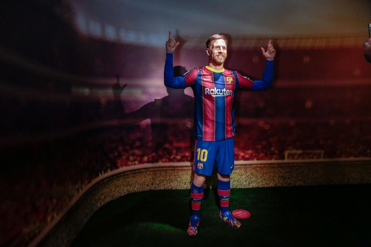 Tác phẩm ở bảo tàng Barcelona là bức tượng sáp mới nhất mô phỏng Lionel Messi.
