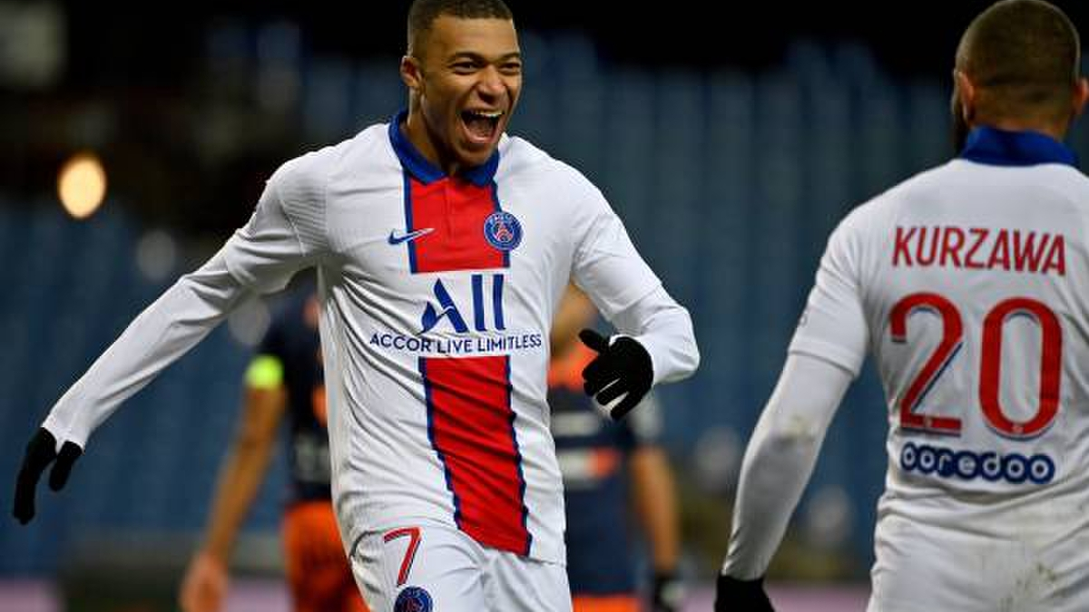 Tại vòng đấu thứ 13 của Ligue 1, PSG đánh bạiMontpellier 3-1 nhờ các pha lập công của Dagba, Kean và Mbappe.