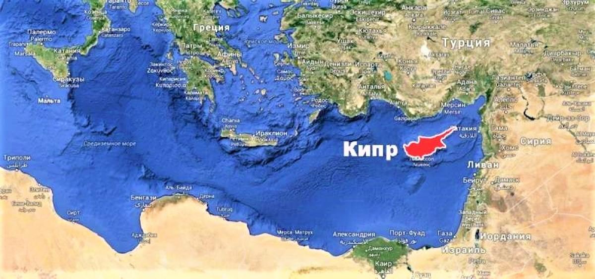Vị trí địa lý độc đáo của đảo Síp. Nguồn: topwar.ru