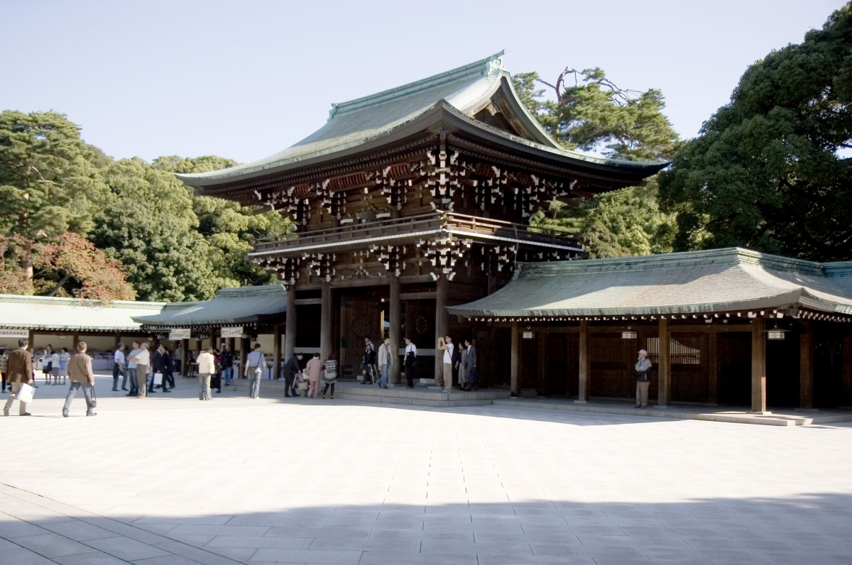 Đền thờ Meiji Jingu. Ảnh: Pinterest.