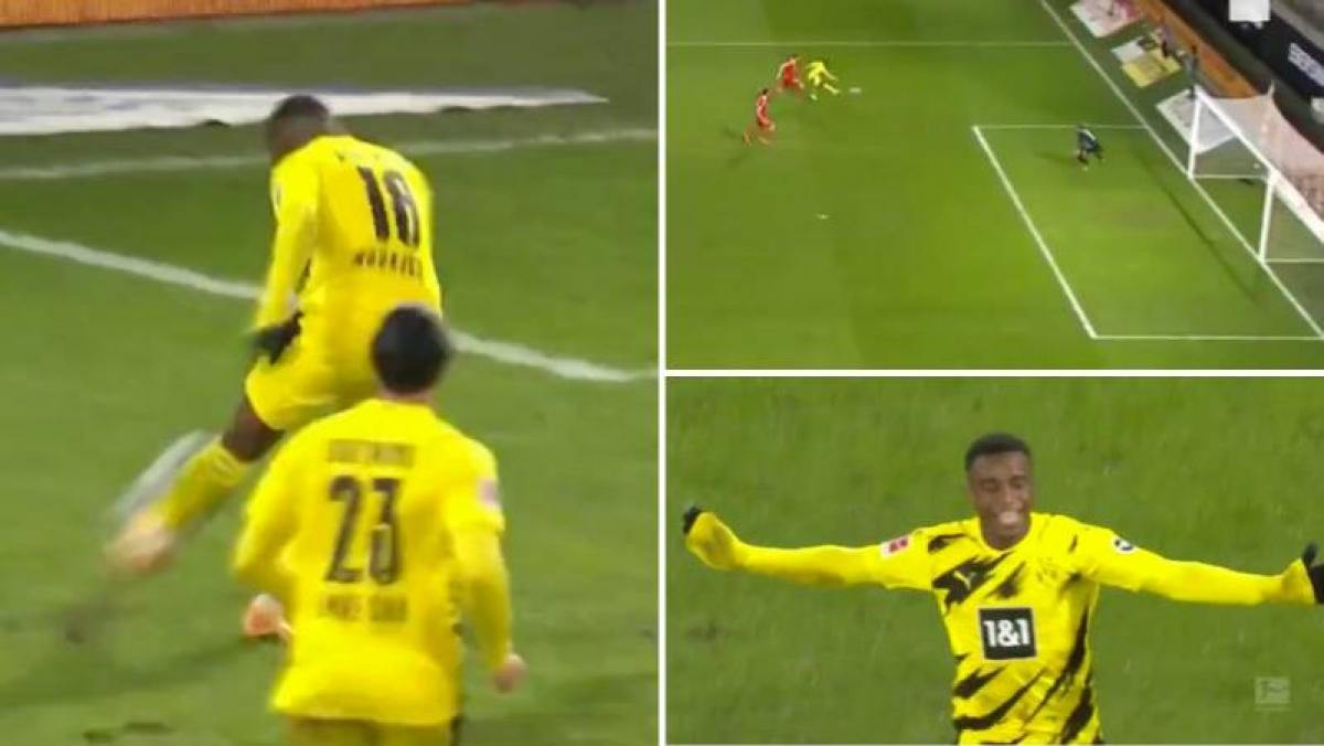 Youssoufa Moukoko xé lưới Union Berlin sau pha chạy chỗ và dứt điểm quyết đoán ở phút 60, giúp Dortmund gỡ hòa 1-1 chỉ sau 3 phút bị dẫn trước.