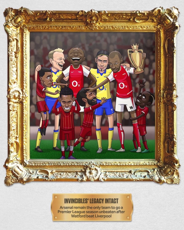 Tháng 2: Liverpool tan mộng làm nên mùa giải bất bại như Arsenal khi thua Watford 0-3.