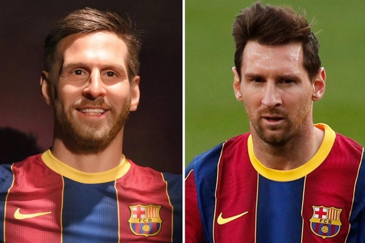 Bức tượng gây tranh cãi khi nhiều người cho rằng diện mạo khác xa so với Lionel Messi thật.