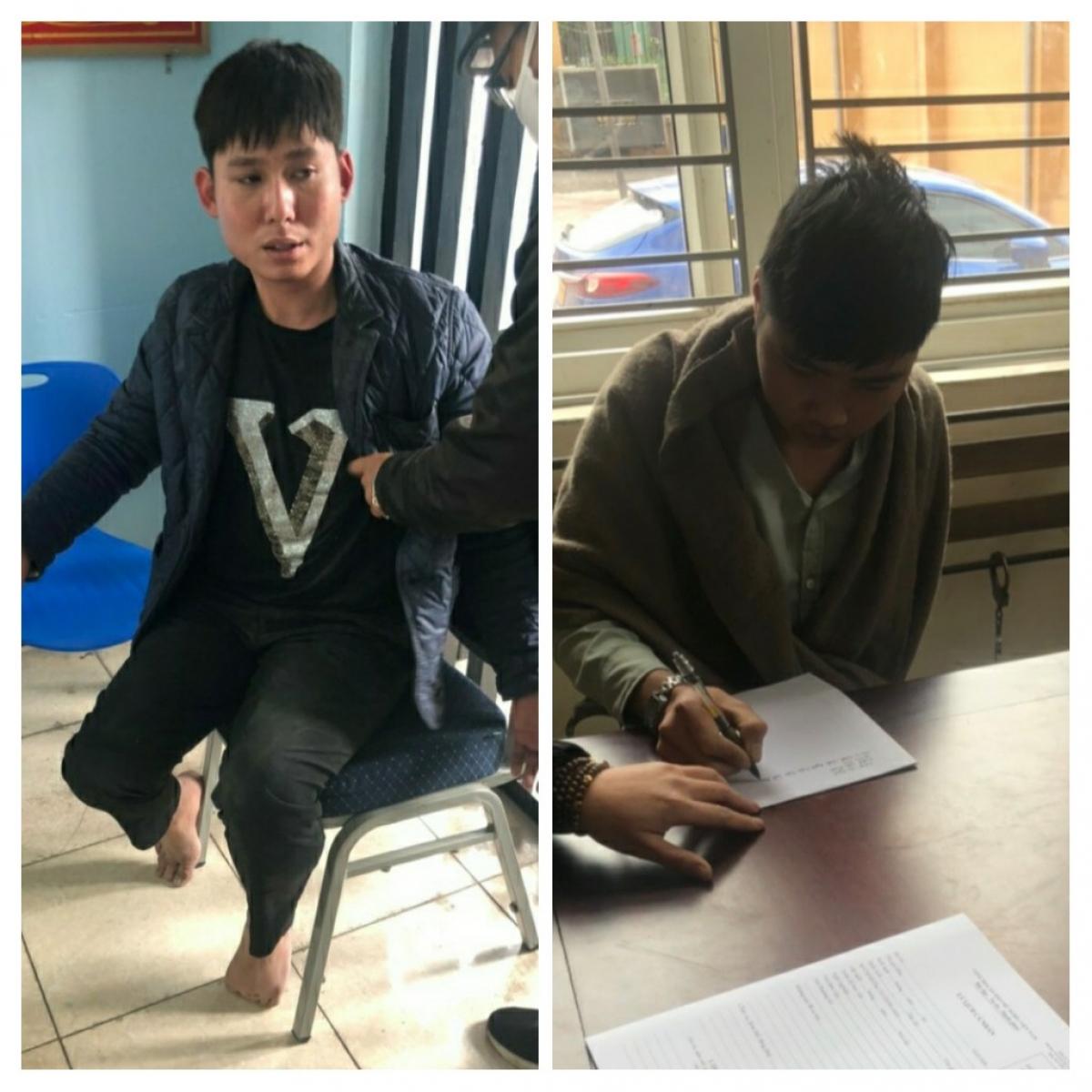 Hai đối tượng Quảng Văn Ngọc (phải) và Nguyễn Anh Tuấn (trái).