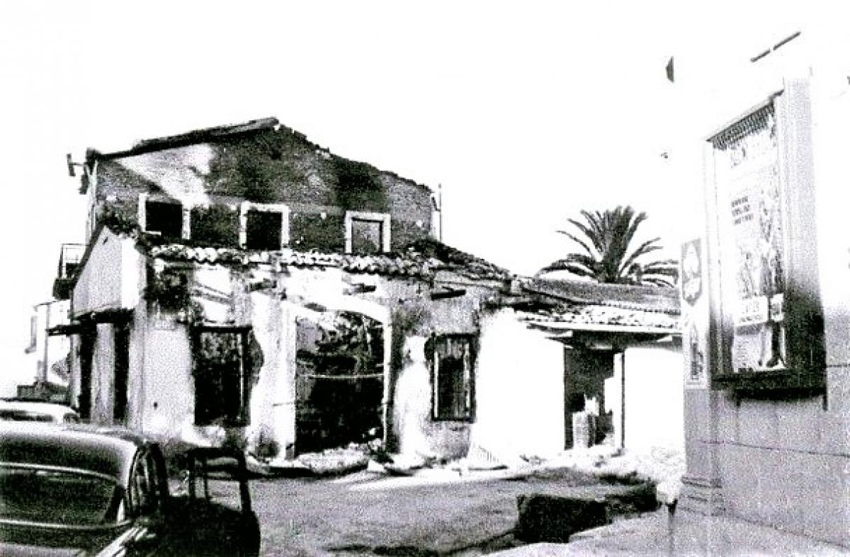 Nhà cửa tài sản của người Síp gốc Thổ Nhĩ Kỳ bị tàn phá. Nguồn: militaryhistories.co.uk
