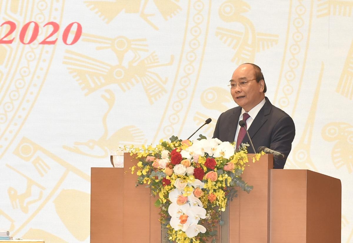 Thủ tướng Nguyễn Xuân Phúc phát biểu khai mạc Hội nghị. Ảnh: VGP