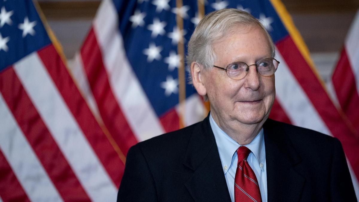 Lãnh đạo phe đa số tại Thượng viện Mỹ Mitch McConnell. Ảnh: The National.