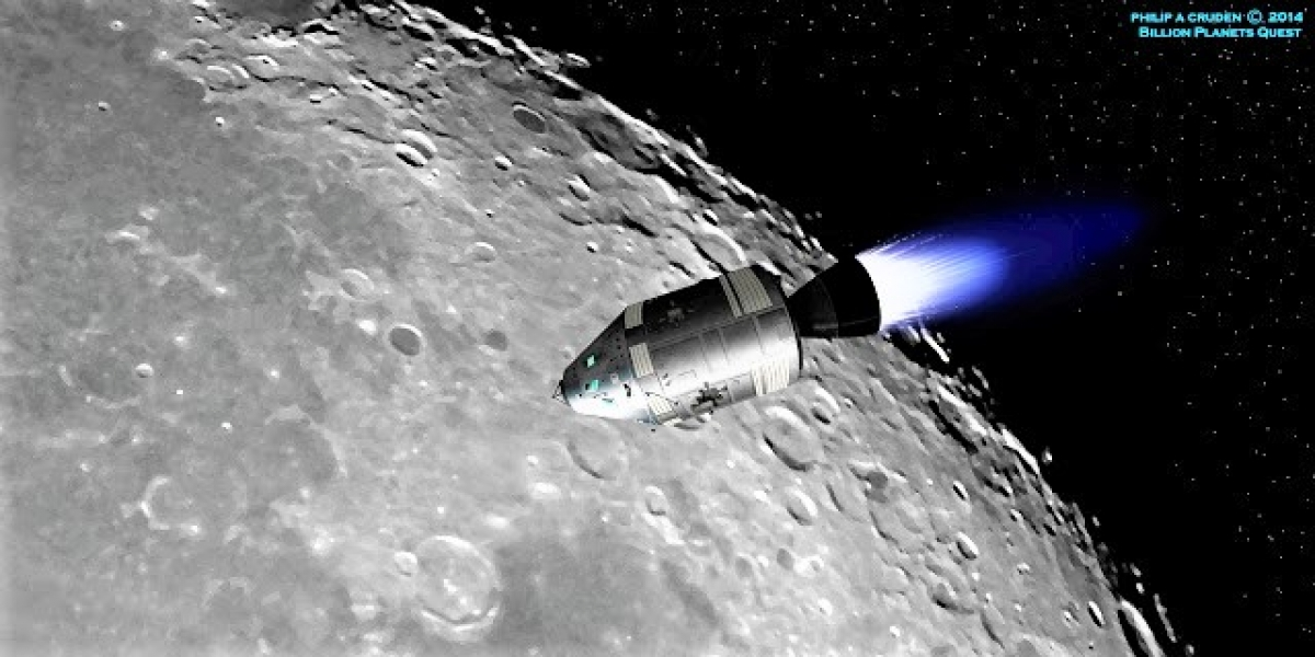 Tàu vũ trụ Apollo 8 (Mỹ) bay quanh Mặt Trăng; Nguồn: billionplanetsquest.com