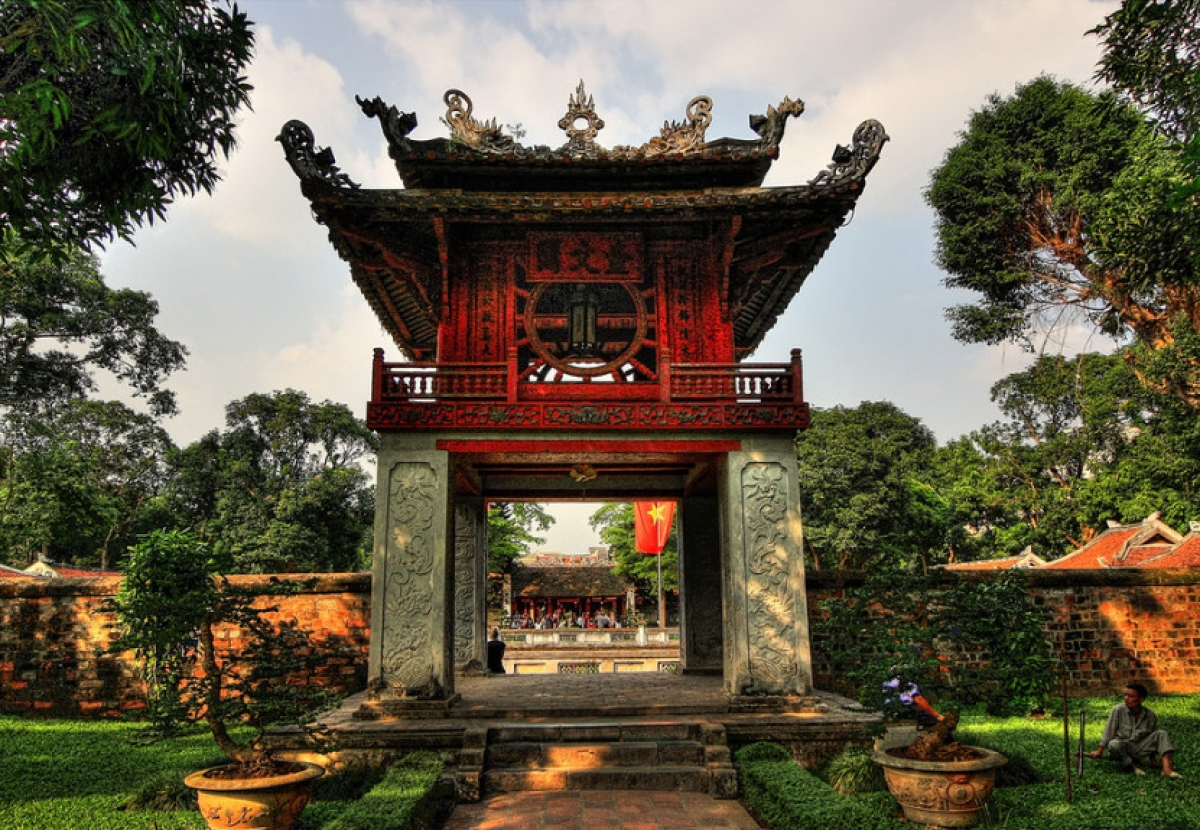 Temple of Literature, one of the landmarks in Hanoi downtown