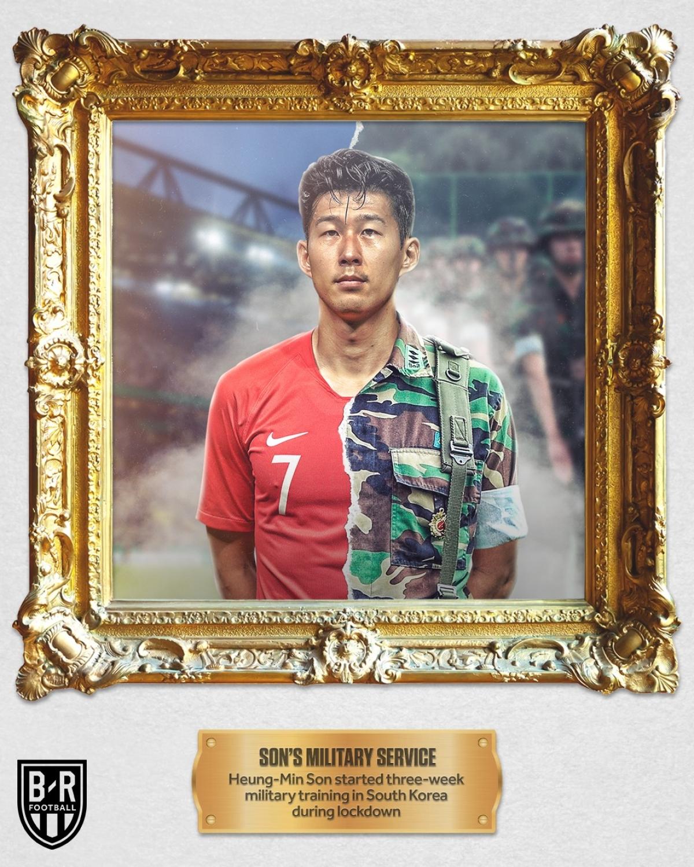 Tháng 5: Son Heung Min thực hiện nghĩa vụ quân sự tại Hàn Quốc trong lúc mùa giải bị hoãn và tốt nghiệp loại xuất sắc.
