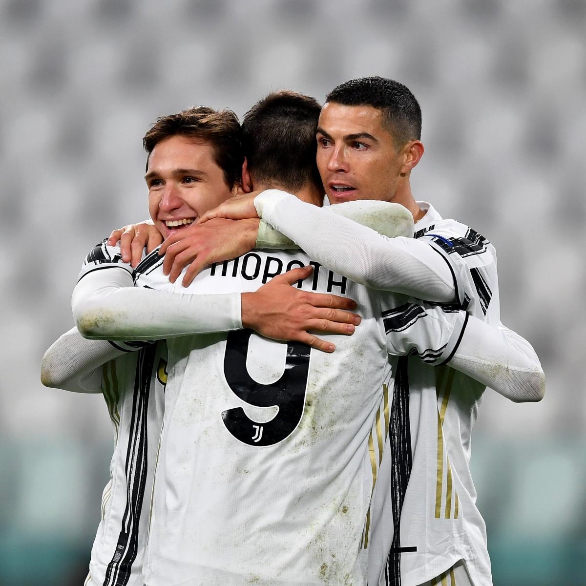 Giành chiến thắng 3-0 trước Dinamo Kyiv, Juventus tiếp tục đứng nhì bảng với 12 điểm sau 5 lượt trận và sẽ quyết đấu với Barca (15 điểm) để tranh ngôi nhất bảng ở lượt trận cuối. (Ảnh: Getty)