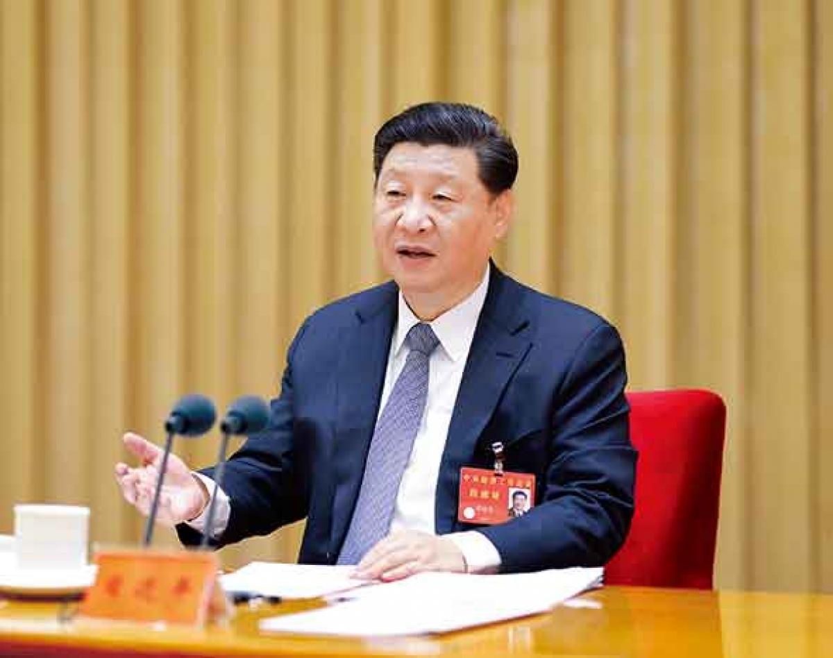 Chủ tịch Trung Quốc Tập Cận Bình phát biểu tại hội nghị. Ảnh: Tân Hoa Xã.