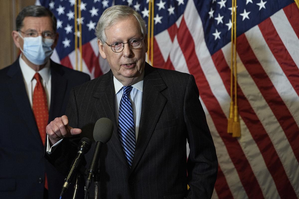 Lãnh đạo phe đa số tại Thượng viện Mitch McConnell. Ảnh: AP