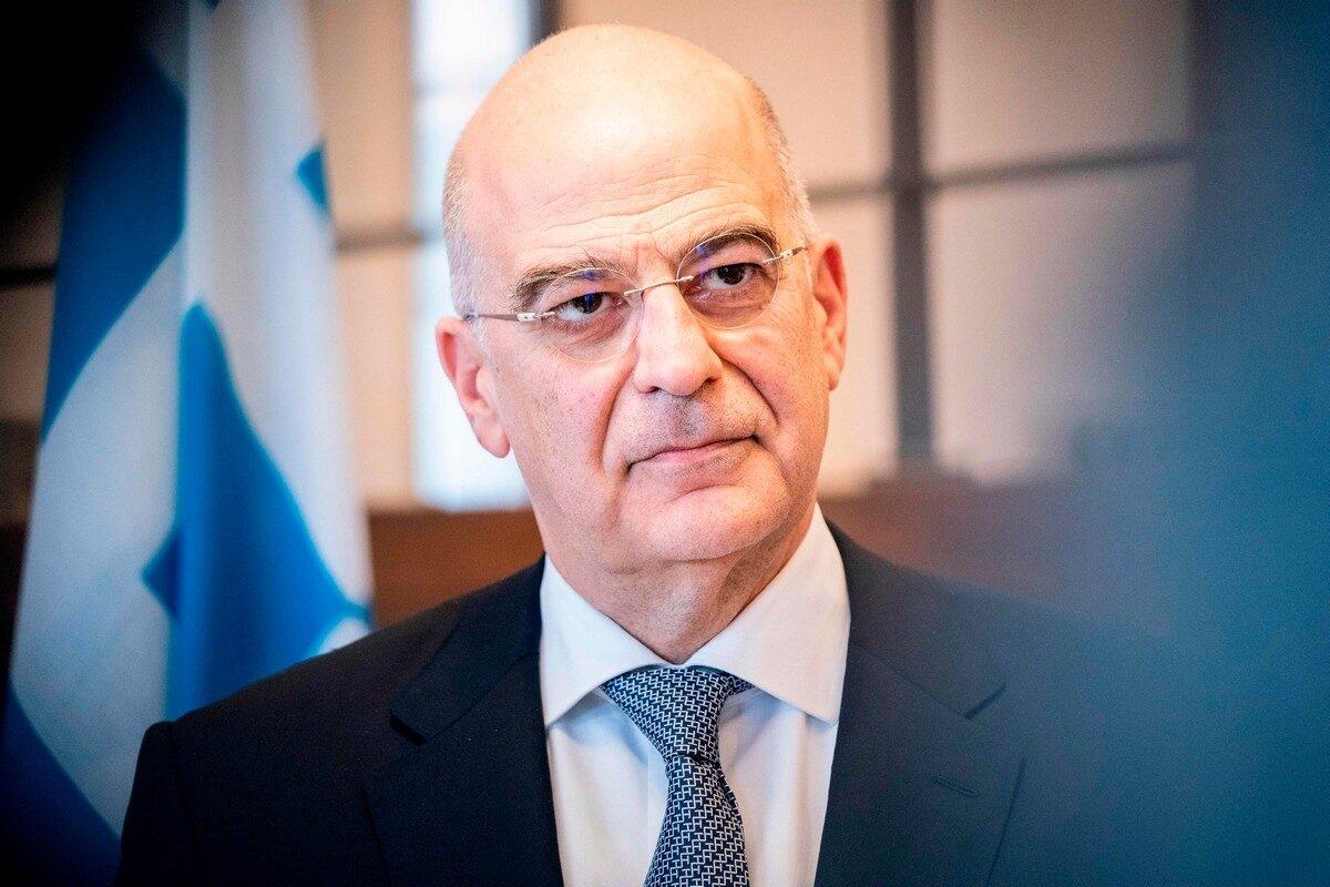 Bộ trưởng Ngoại giao Hy Lạp Nikos Dendias. Ảnh: middleeastmonitor.com