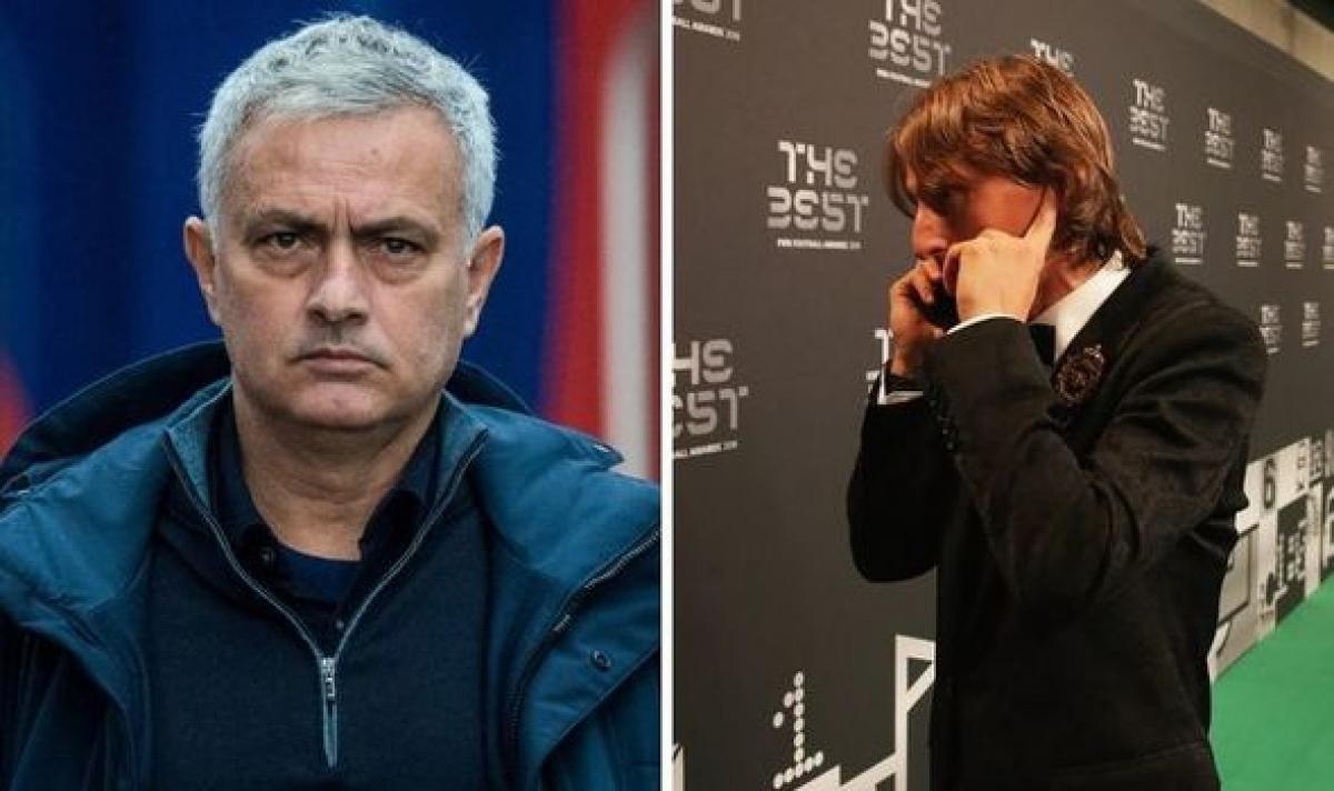 Mourinho muốn đưa Modric trở lại Tottenham. (Ảnh: Express)