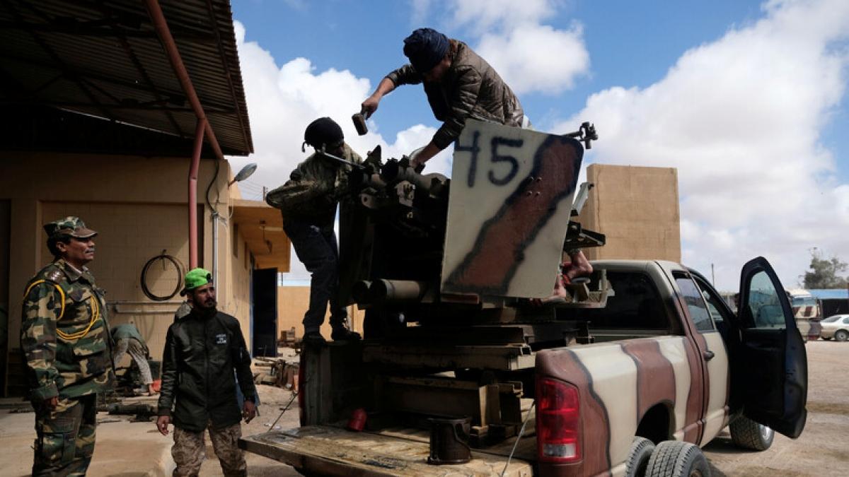 Lực lượng quân đội quốc gia Libya. Ảnh: Reuters