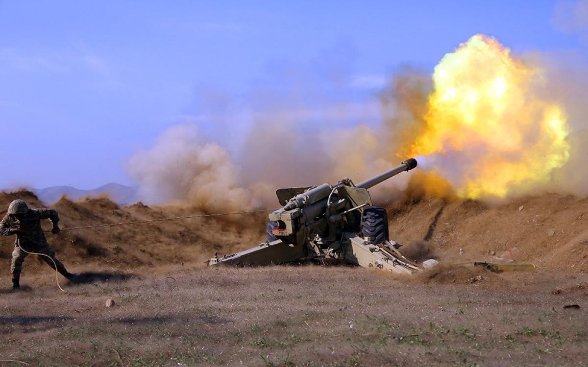 Xung đột quân sự ở khu vực Nagorno-Karabakh. Ảnh: Izwest.