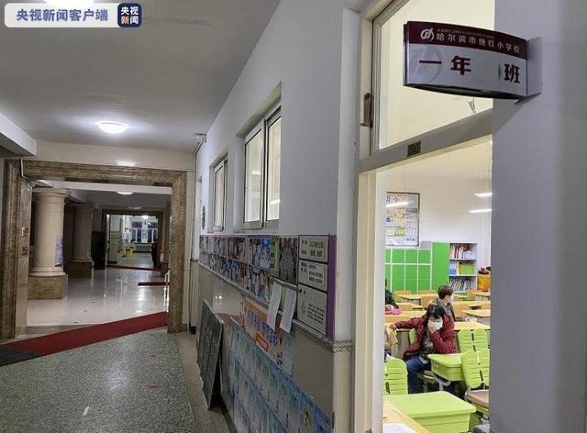Ngôi trường nơi xảy ra vụ nhiễm norovirus tập thể. Ảnh: CCTV