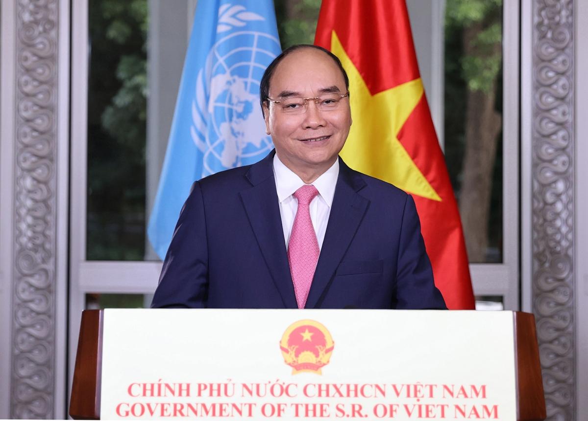 Thủ tướng gửi thông điệp đặc biệt tại phiên họp của LHQ về ứng phó COVID-19. Ảnh: Thống Nhất/TTX