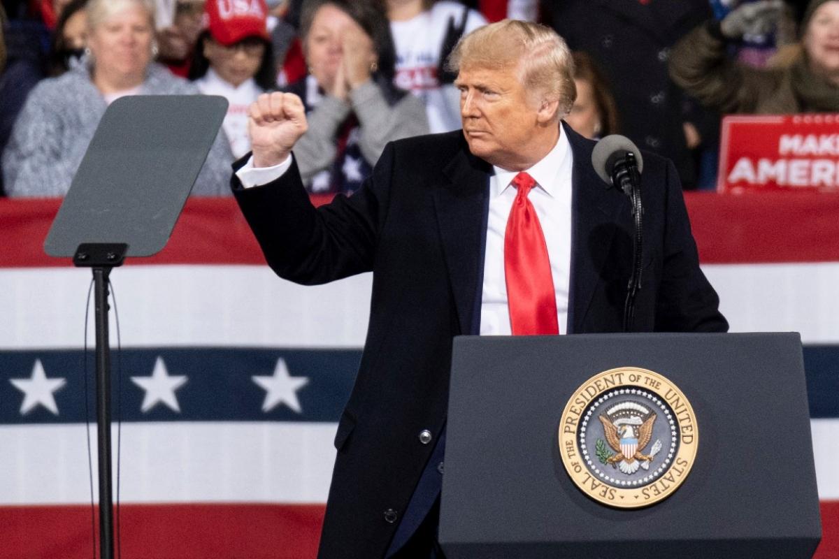 Tổng thống Mỹ Donald Trump ở Georgia ngày 5/12. Ảnh: AP