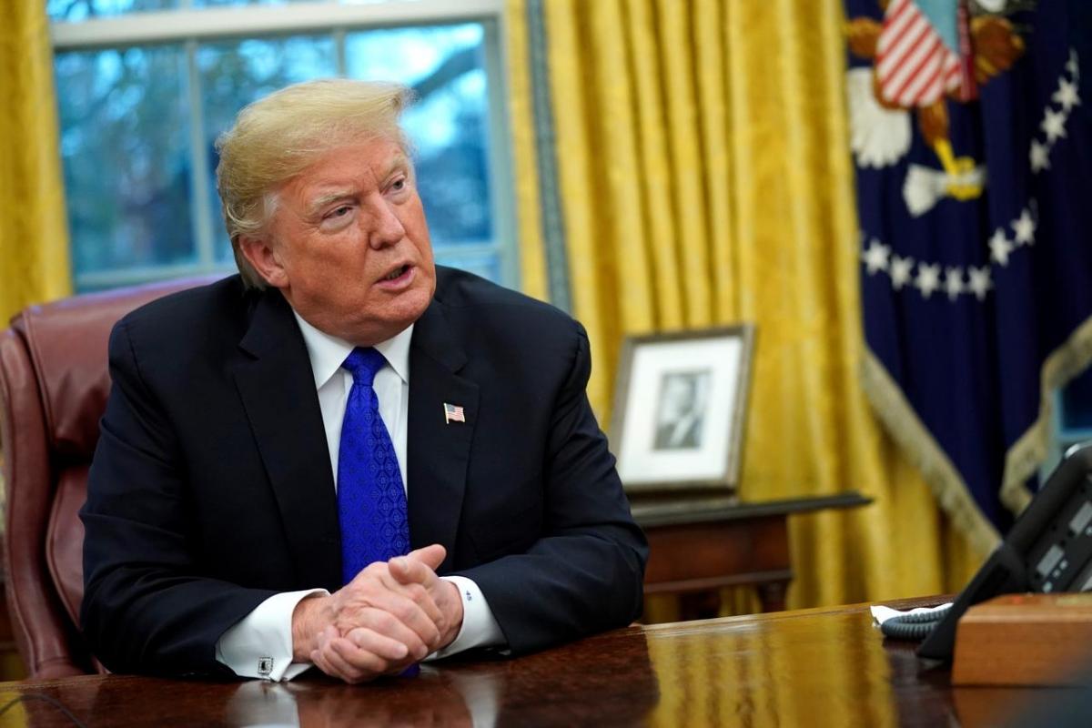 Tổng thống Trump. Ảnh: Reuters