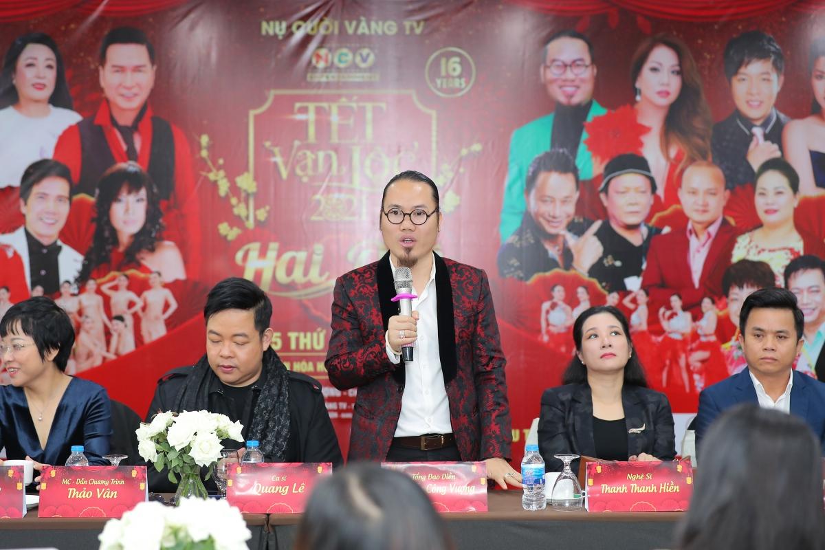 Đạo diễn Nguyễn Công Vượng chia sẻ dù năm nào chương trình cũng lỗ nhưng anh và ekip vẫn quyết tâm thực hiện, mang đến món quàtinh thần ý nghĩa cho khán giả trong dịp Tết đến xuân về.