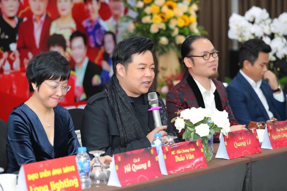 Ca sĩ Quang Lê chia sẻ trong buổi họp báo.