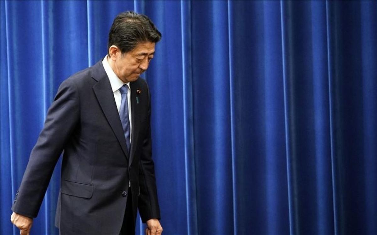 Cựu Thủ tướng Nhật Bản Abe. Ảnh: Anadolu.