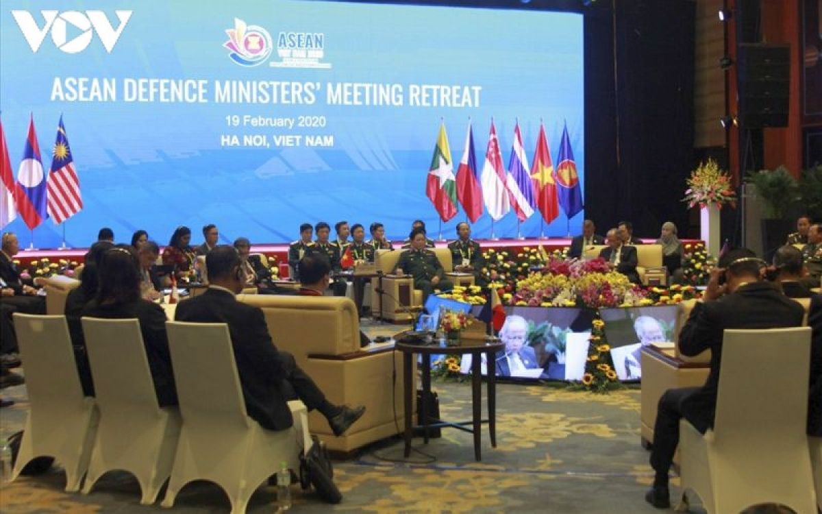 Toàn cảnh Hội nghị Hẹp Bộ trưởng Quốc phòng các nước ASEAN (ADMM Hẹp) diễn ra hồi tháng 2/2020.