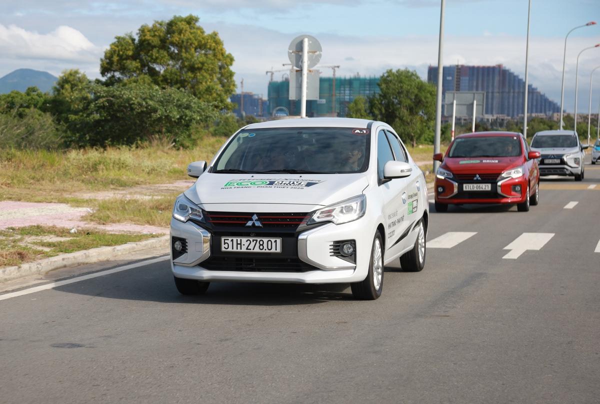 Mitsubishi Attrage gây bất ngờ khi có mức tiêu thụ nhiên liệu trung bình thấp nhất chỉ 3,15 lít/100 km.