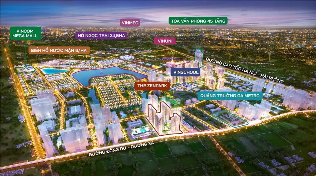 The Zenpark toạ lạc tại tâm điểm giao thương của Thành phố biển hồ sôi động.