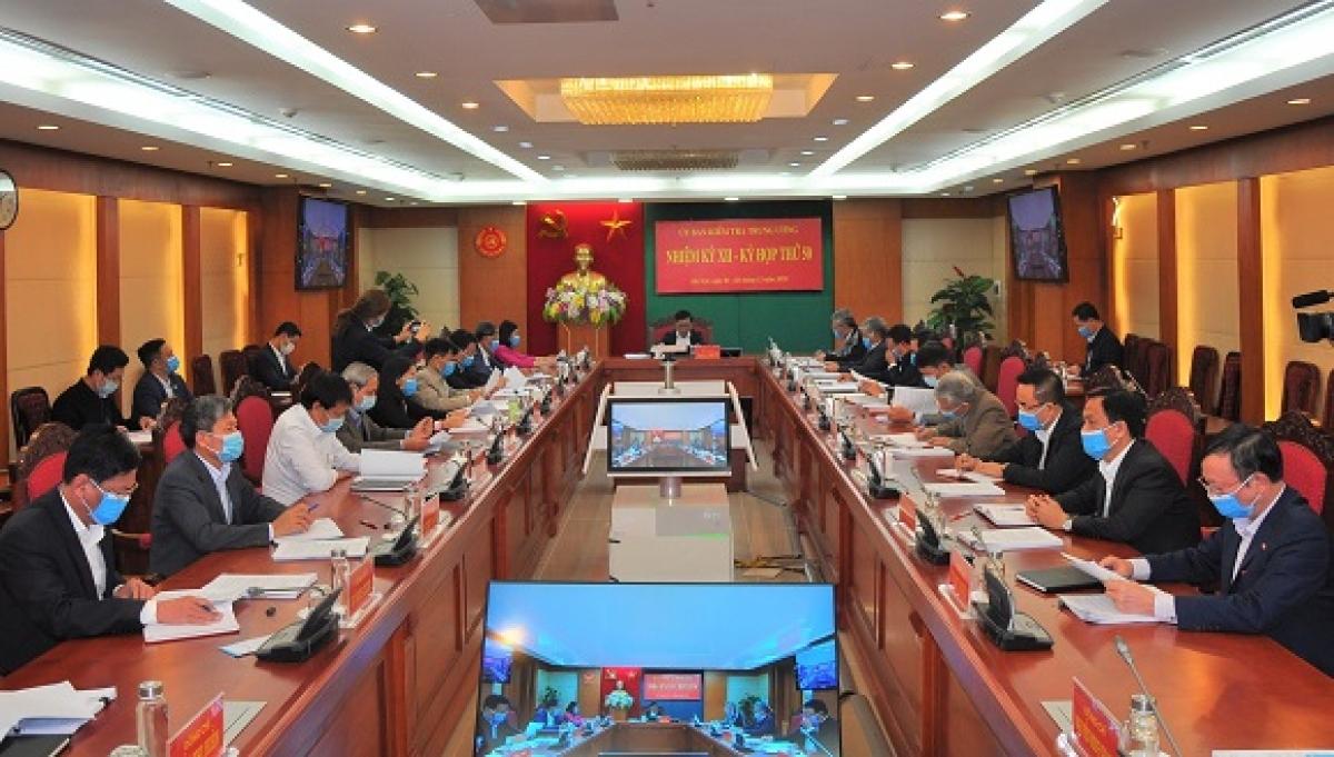 Kỳ họp thứ 50 của Ủy ban Kiểm tra Trung ương.