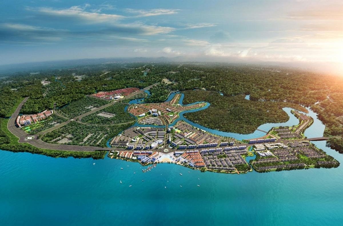 Phối cảnh Khu đô thị sinh thái thông minh Aqua City tại Biên Hòa, Đồng Nai.