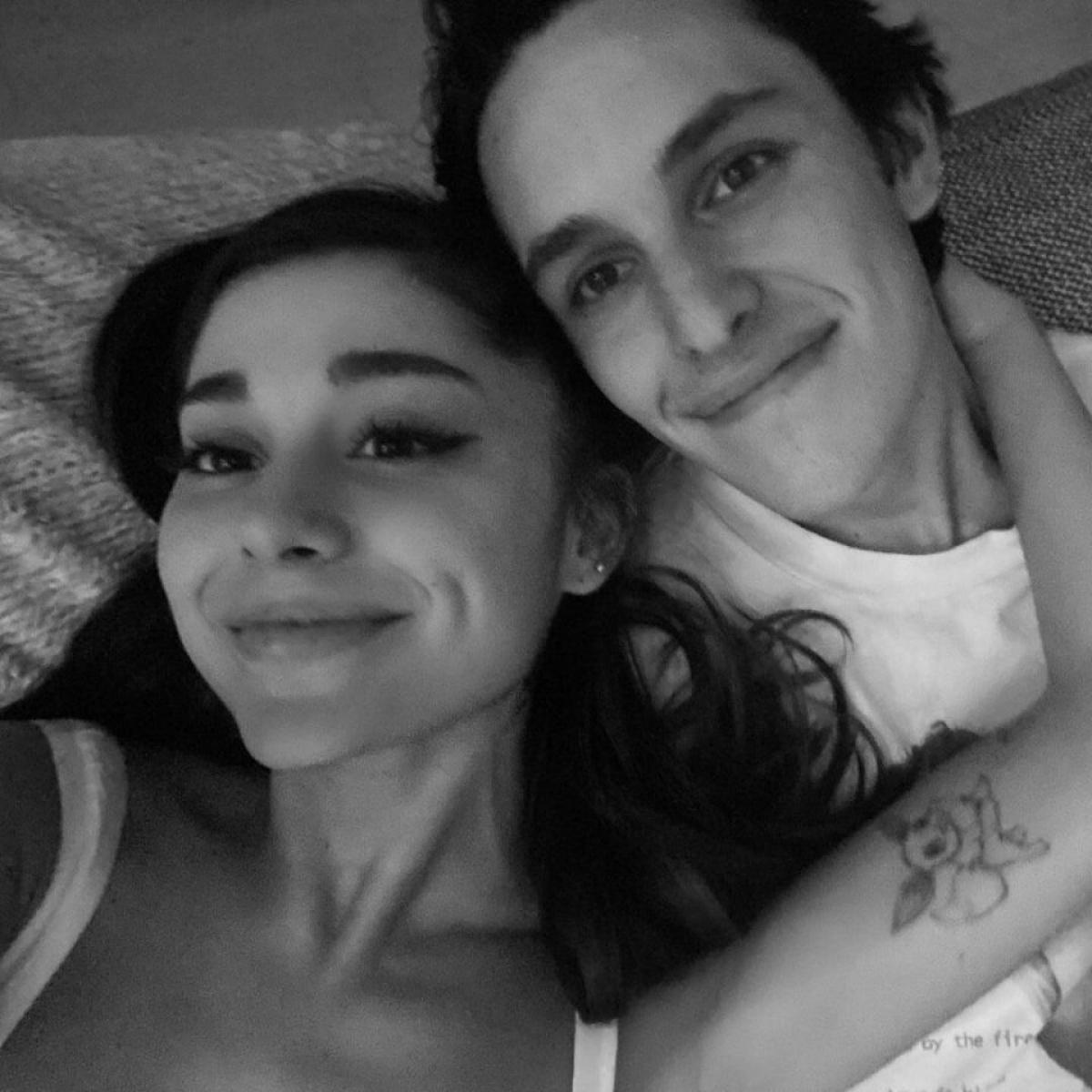 Ariana Grande và bạn trai.