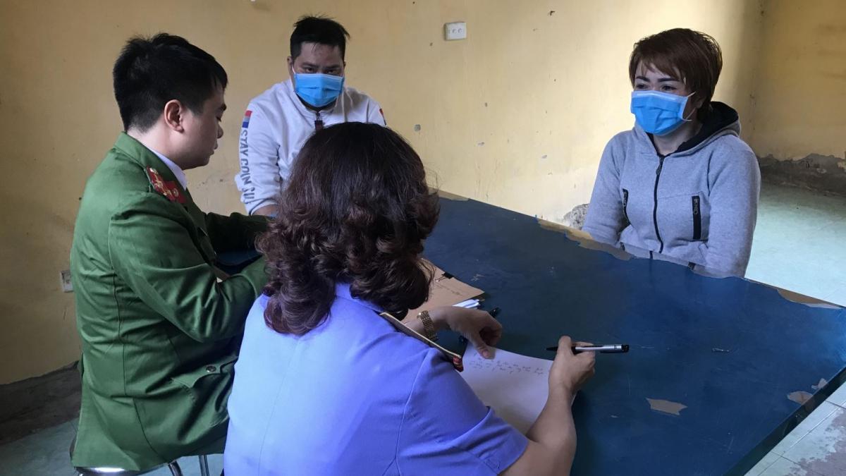 Nguyễn Thị Ánh Tuyết tại cơ quan điều tra.