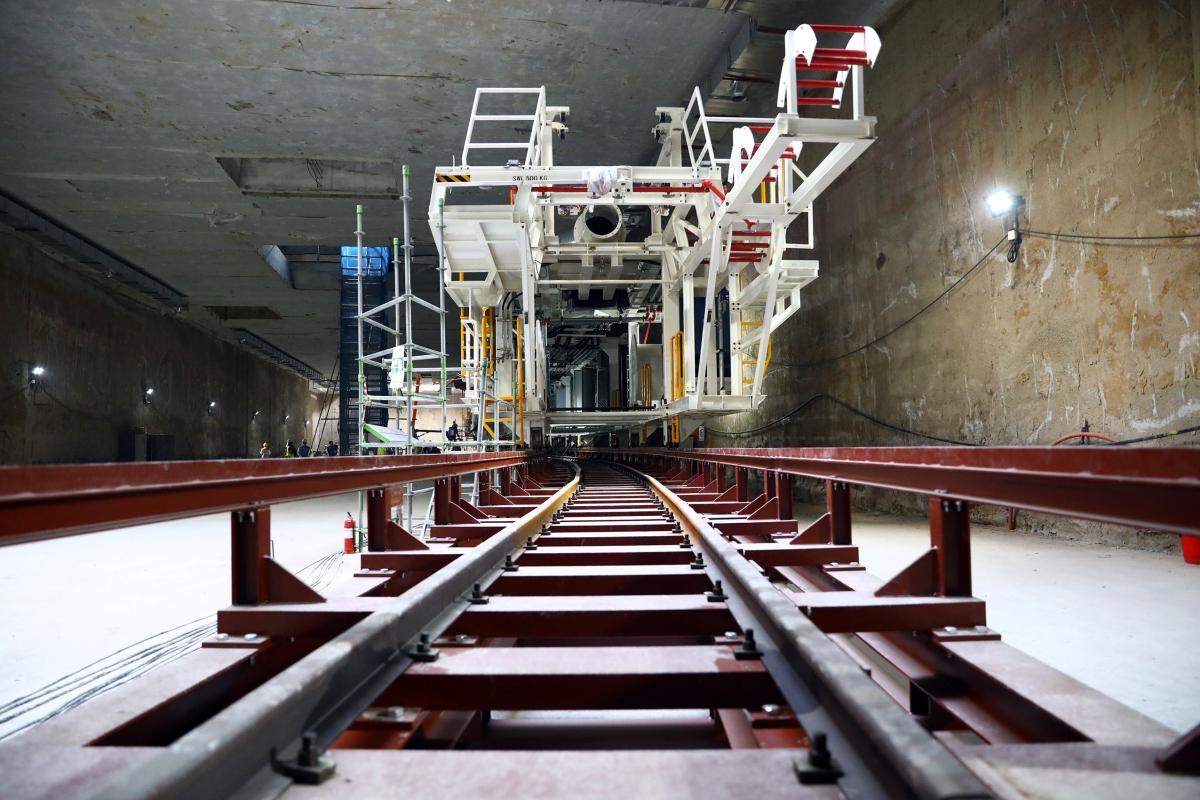 Sau khi lắp ráp xong máy TBM sẽ bắt đầu khoan từ ga S9 tới ga S12-ga Hà Nội ở cuối đường Trần Hưng Đạo với tổng chiều dài 4km.