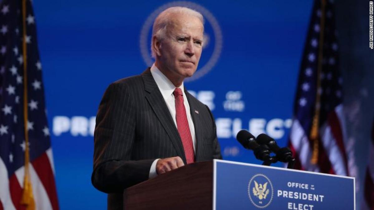 Tổng thống đắc cử Joe Biden. Ảnh: CNN.