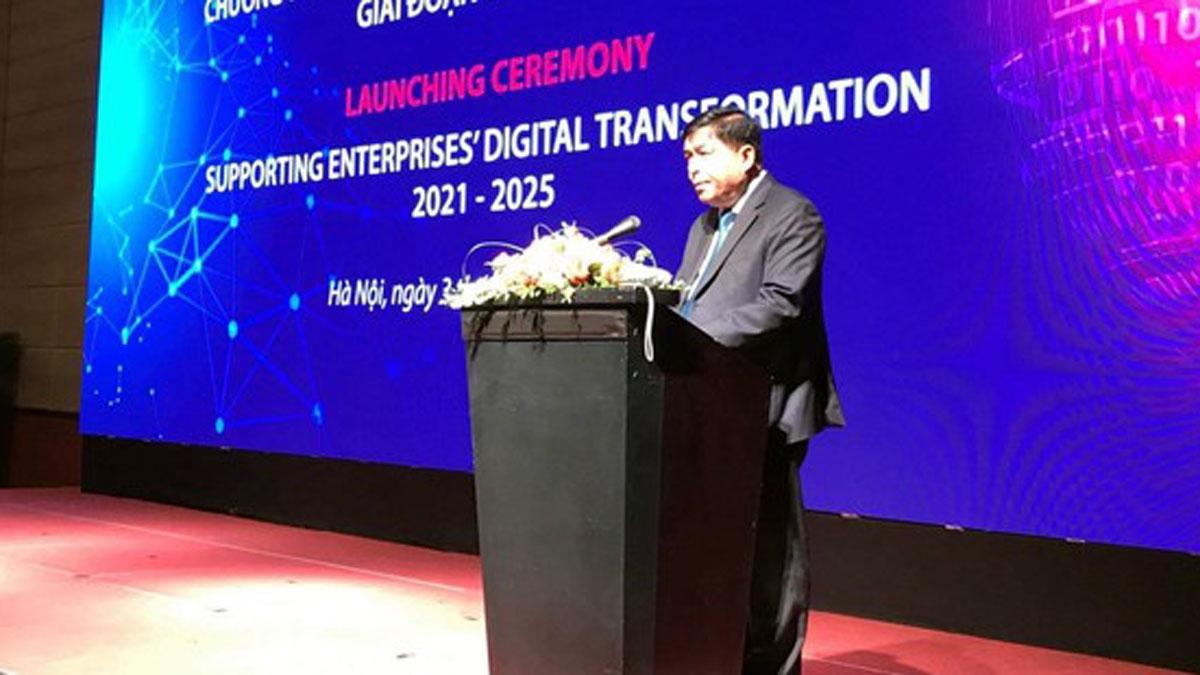 Bộ trưởng Bộ Kế hoạch và Đầu tư Nguyễn Chí Dũng phát biểu tại sự kiện. Ảnh: Báo SGGP.