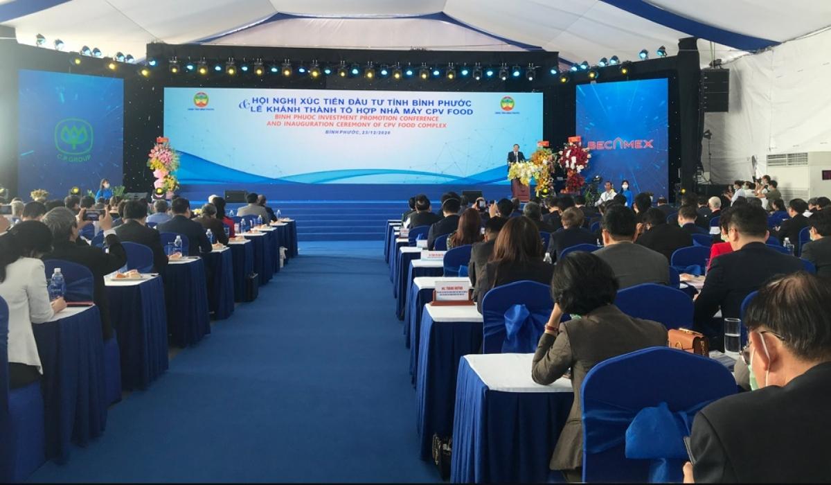 Hội nghị xúc tiến đầu tư tại Bình Phước.