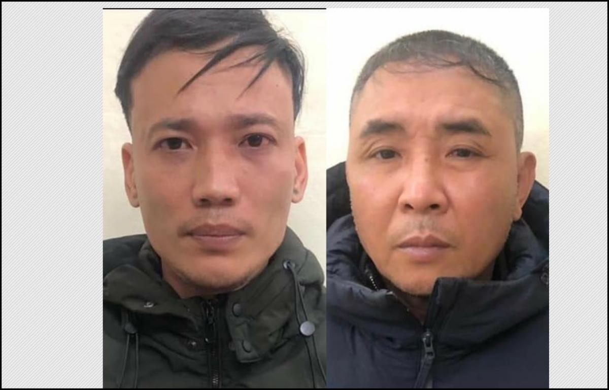 Hai đối tượng Trịnh Xuân Hiền (trái) và Sử Văn Thành.