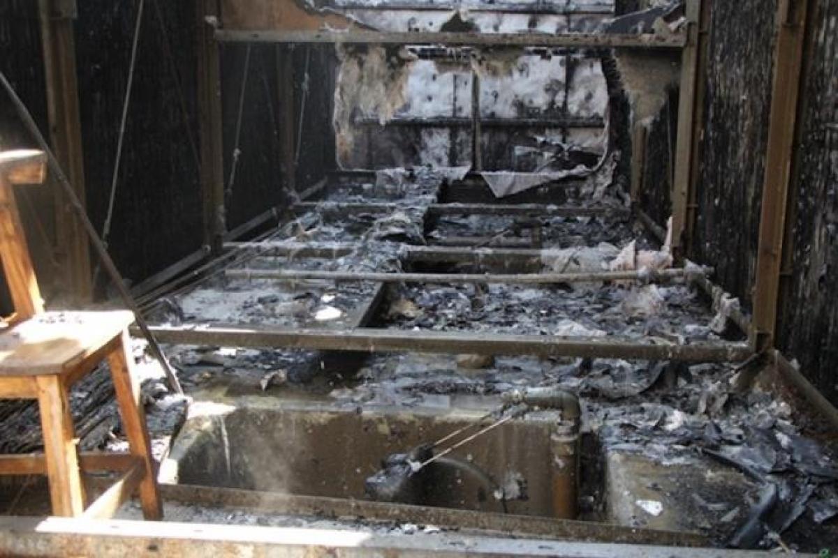 Đám cháy được dập tắt sau khoảng 1 giờ.