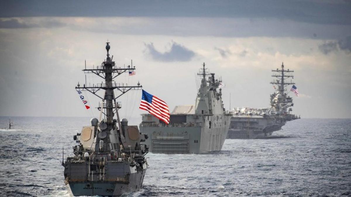 Các tàu chiến của Mỹ. Ảnh: National Interest.