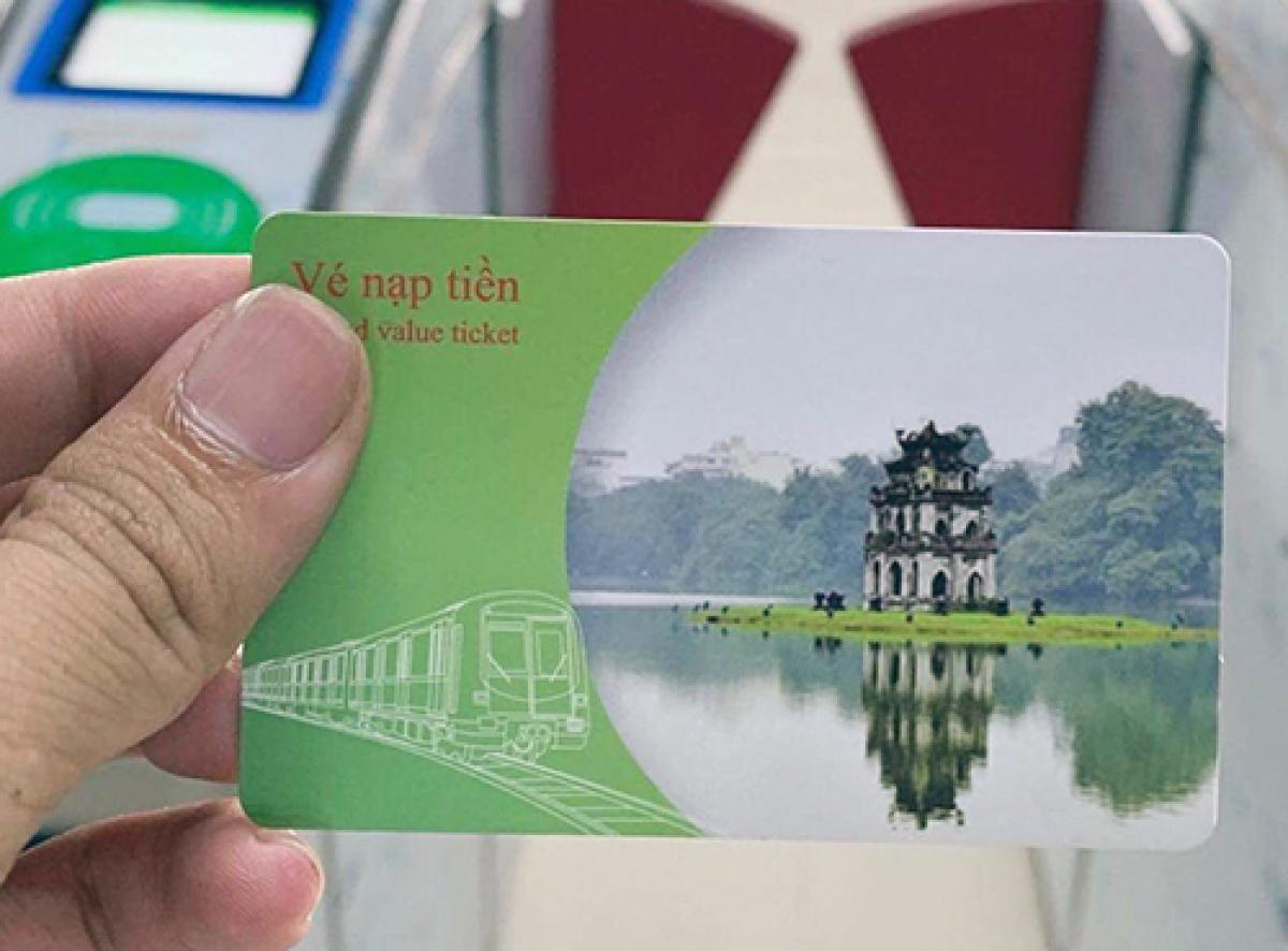 Thẻ lên tàu Cát Linh - Hà Đông.